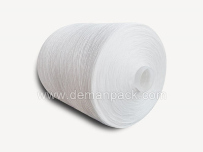 100% polyester spun yarn raw white