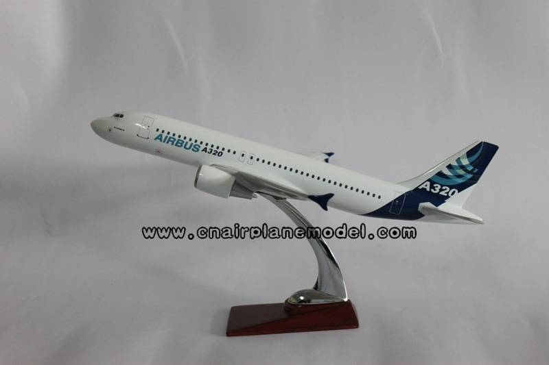 resin aircraft model Airbus320 37cm