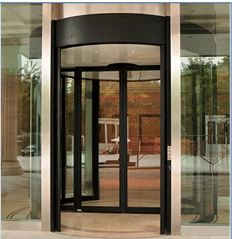Pard-TF2000C The Two Wing Automatic Revolving Door-Case on Both Sides with Sliding Door in the Middl