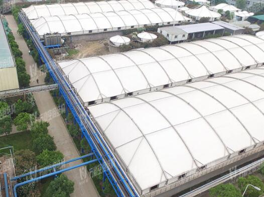Chemical Sewage Pool Canopy Membrane Structure Project
