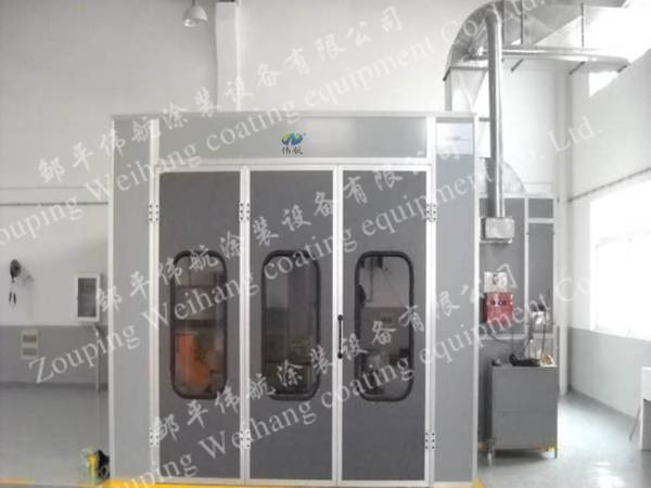 Diesel Burner Auto Spray Booths Galvanized Steel Sheet Basement