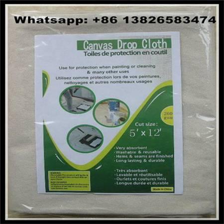 8oz Canvas Drop Cloth, cotton drop sheet, grey cotton fabric China supplier Lylian