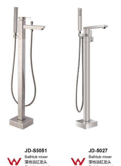 Floor standing bathtub faucet brass/stainless steel 304 material