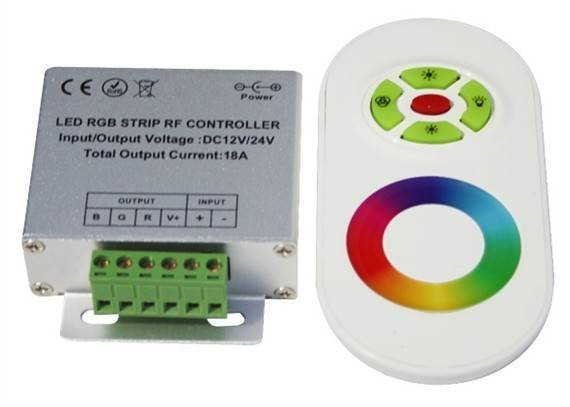 Touch screen remote controller for RGB LED strips