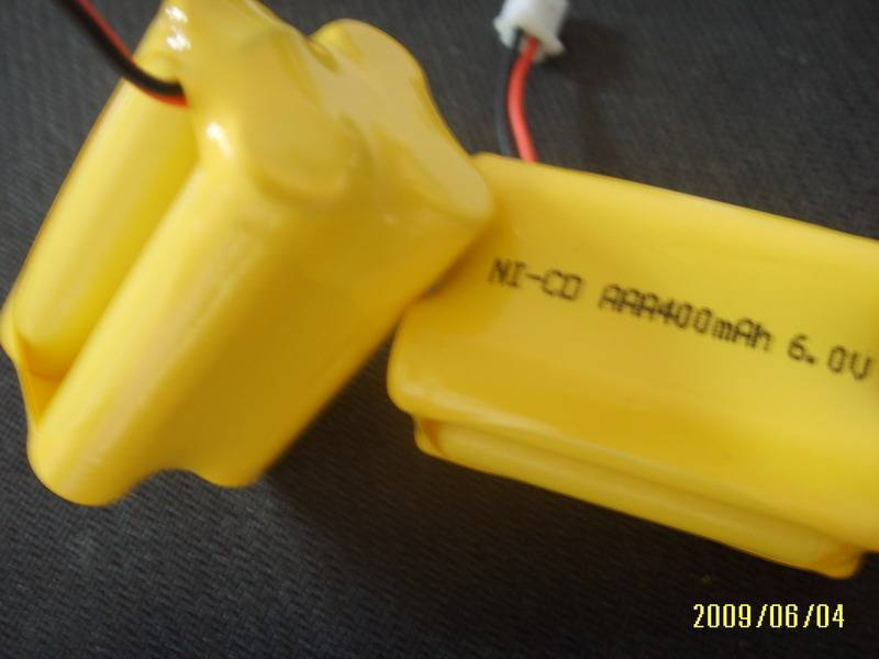 Emergency Light battery 6.0V 400mAh AAA NiCD Battery