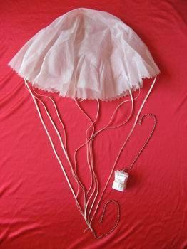 Signal flare parachute