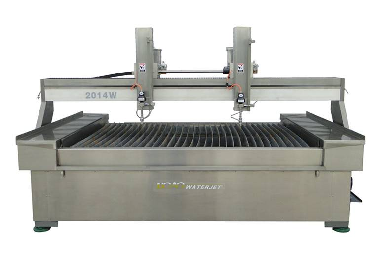 Waterjet with two cutting head