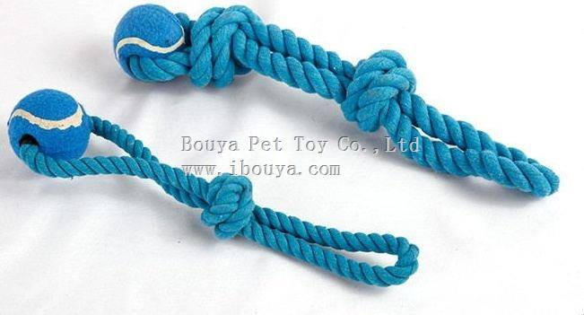 New design blue tennis ball pet toy for dog chewing 2176
