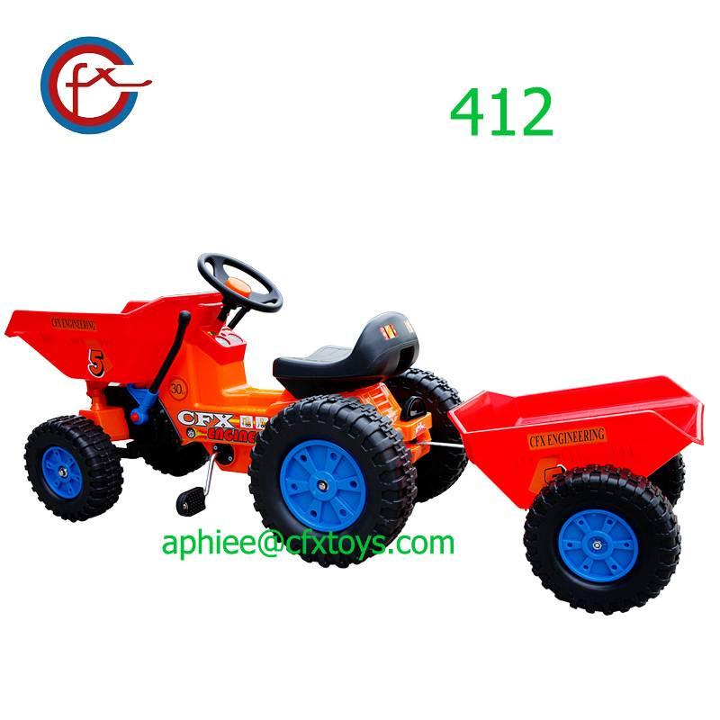 kids pedal car toy dumper tractor riding car bike 412