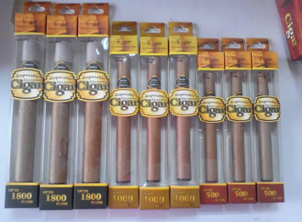 500/1,000/1800 Puffs Disposable E-Cigars, Large Vapor, Good Packaging Box