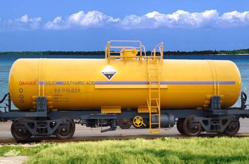 Sulphuric Acid Tank wagon for Namibia