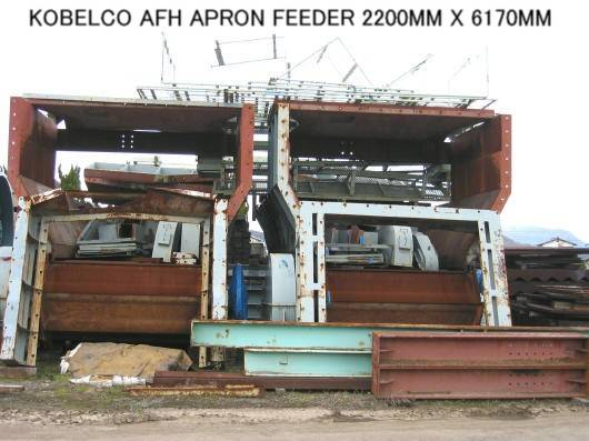 USED APRON FEEDER KOBELCO 2200MM X 6170MM MADE IN JAPAN