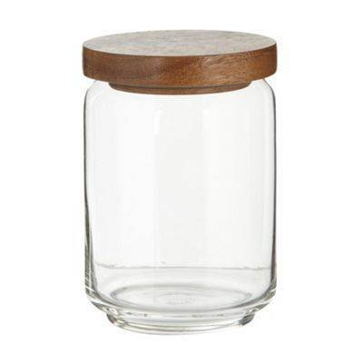 High Quality Glass Jar With Wooden Lid