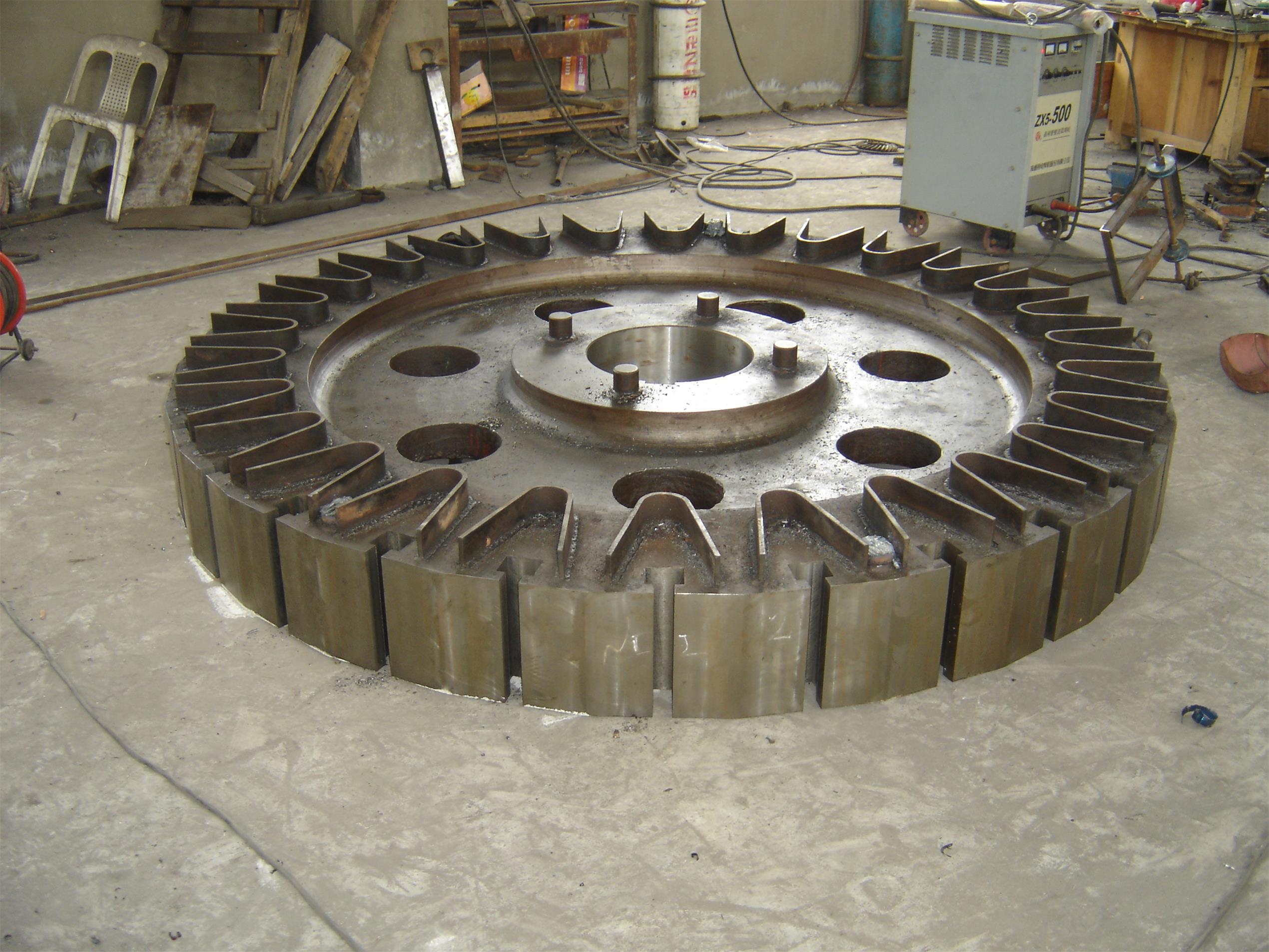 hydraulic turbine used magnetic yoke