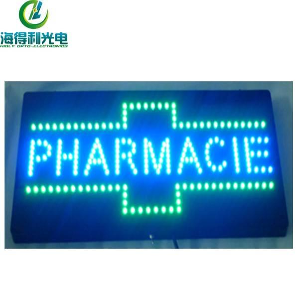 LED flash cross open sign