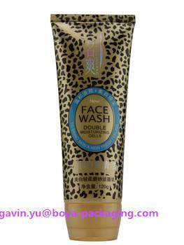 face cleaner cream cosmetic plastic packaging tube flip top cap