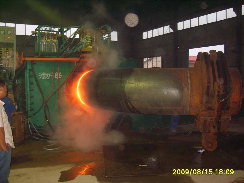straight seam induction heating pipe bending machine