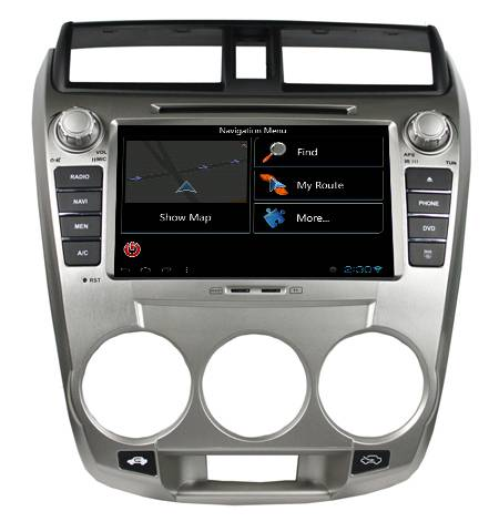 car audio gps dvd for honda CITY with ATV+IPOD+BT+Radio/RDS PIP+DVD+SWC tk8059