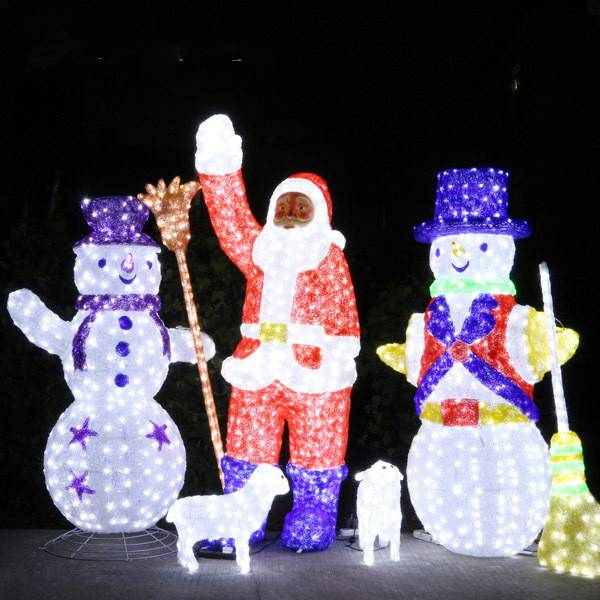 LED Santa Claus and snowmans Christmas lighting