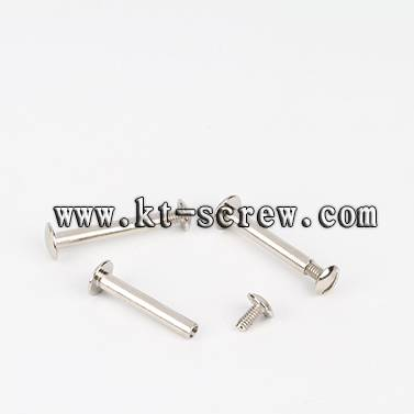 Female and male Chicago screw for account book