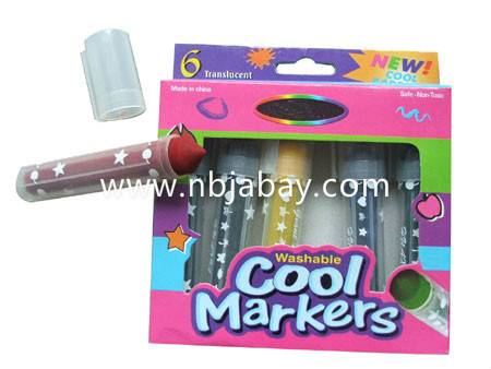6pack washable cool markers