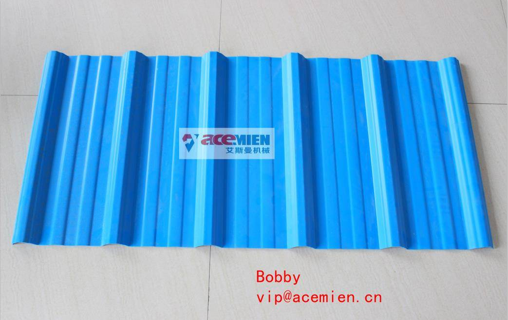 PVC+ASA anti-ultraviolet/anti-corrosion glazed roof tile/roofing sheet extrusion equipment