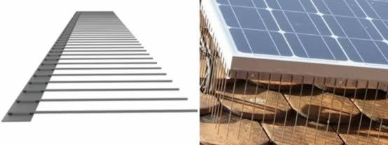Stainless steel solar spikes for solar and photovoltaic systems