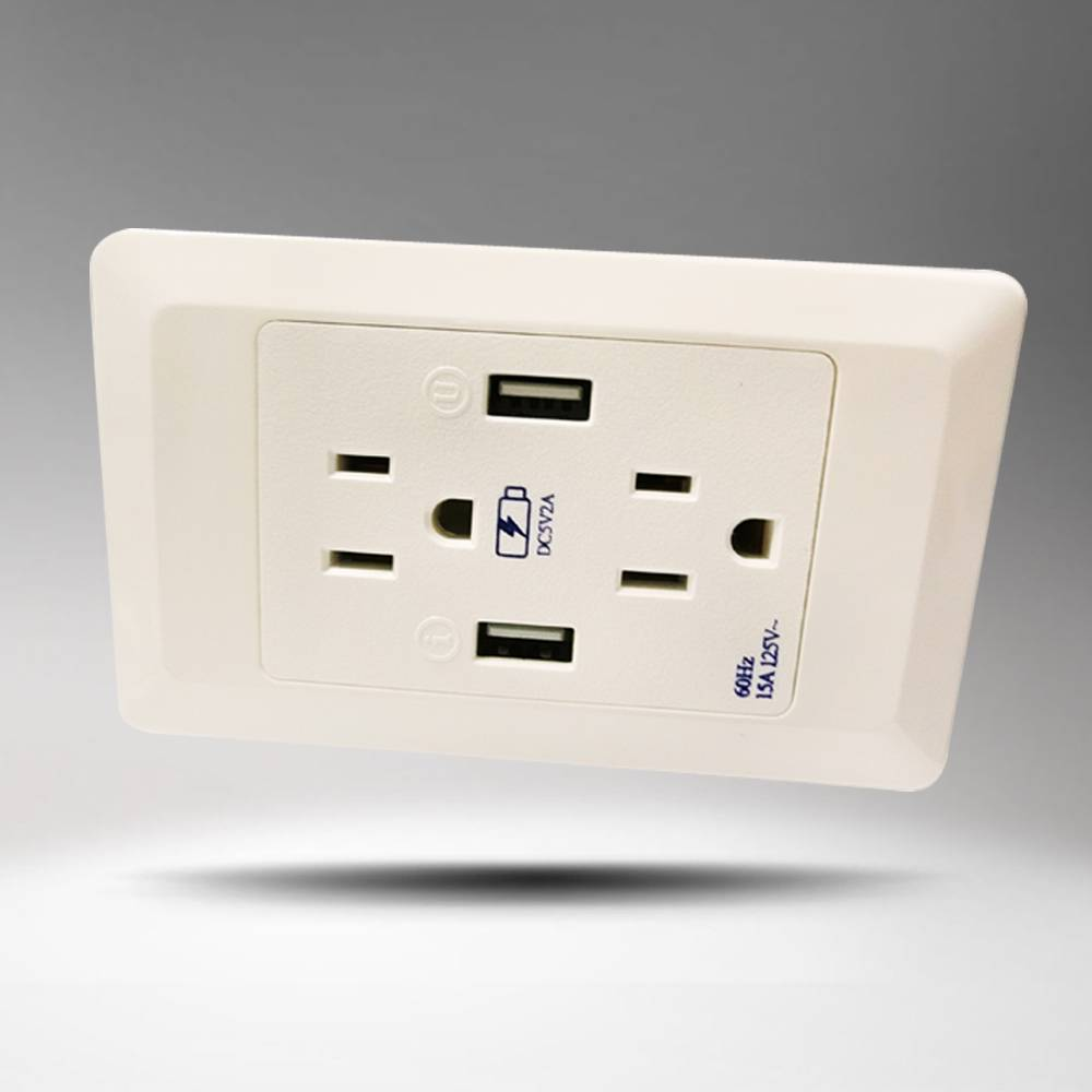 USA 5V2A Wall socket for white color with CE ROHS approved