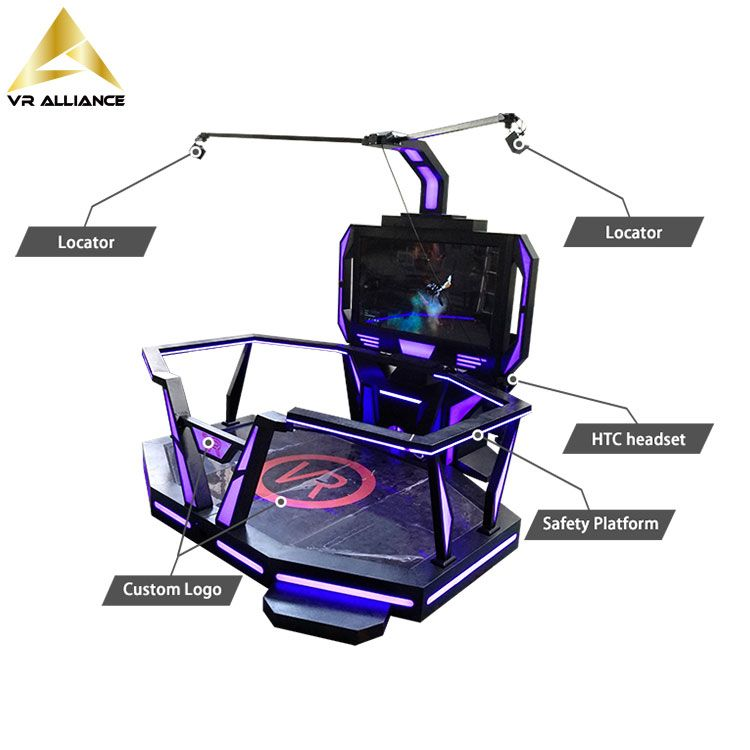 9d Standing Platform Virtual Reality Equipment for Theme Park