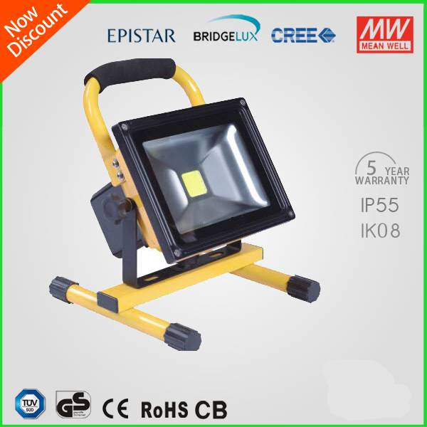 Ip65 Waterproof Newest Design 50w Led Flood Light Portable Rechargable