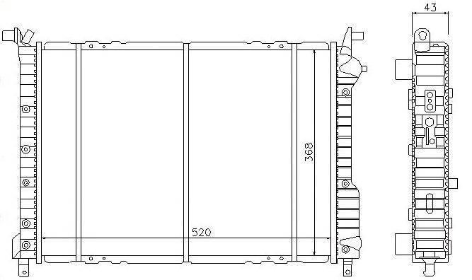 Fiat radiator:46440541