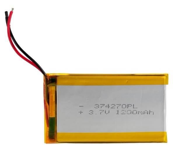 lithium polymer battery pack with 1200mAh capacity
