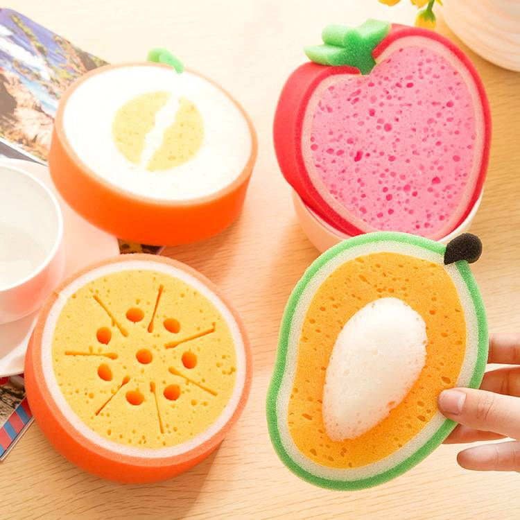 Fruit sponge scouring pad
