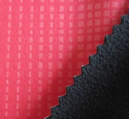 100D pringting 4 way strectch fabric+tpu+fleece