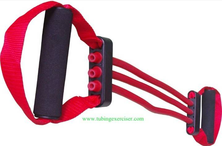 fitness expander equipment latex chest expander