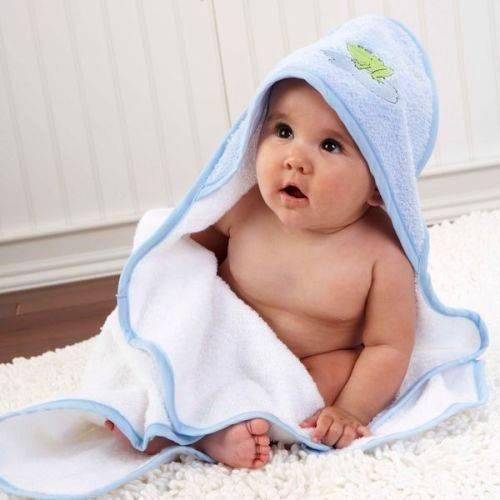 Serviette bebe a capuche
