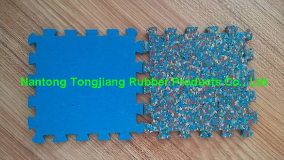 Colorful interlock EPDM rubber flooring tile