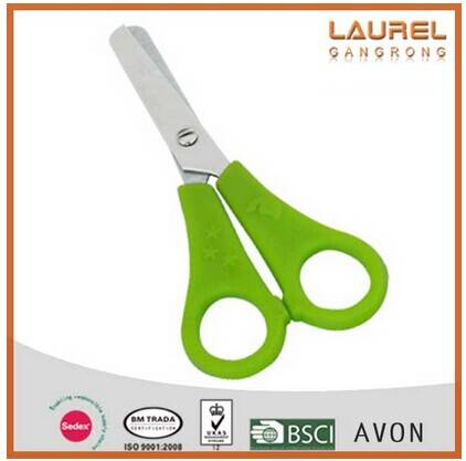 office stainless steel scissor in PP TPR handle with OEM