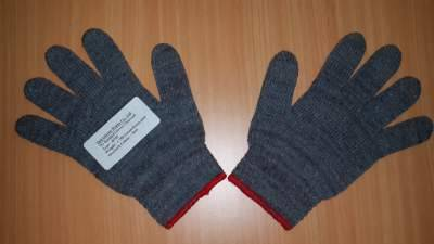 Charcoal Cotton Knitted Gloves 7G