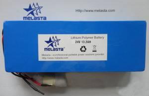 Li-polymer Battery Pack / Custom Battery Pack 24V 13.2ah