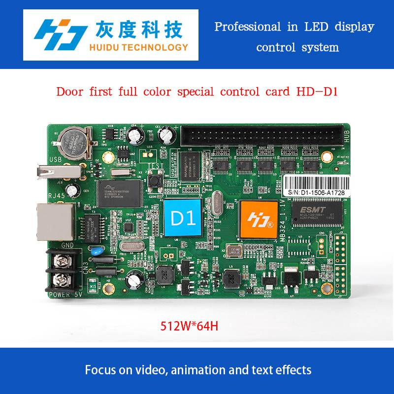 full color led running text video controller card