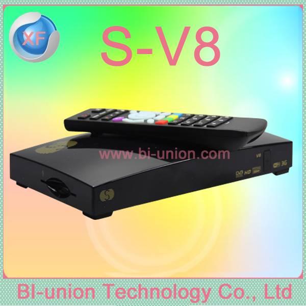 New S V8 S-V8 Support WEBTV Biss Key 2x USB Slot USB Wifi 3G Youtube NEWCAMD CCCAMD full hd Satellit