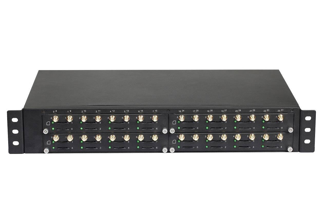 GSM VoIP Gateway with 32SIM, SMS, 2 LAN10/100M Base-TxRJ45