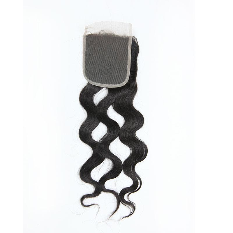 8A Brazilian Natural Wave Human Virgin Hair Lace Closure