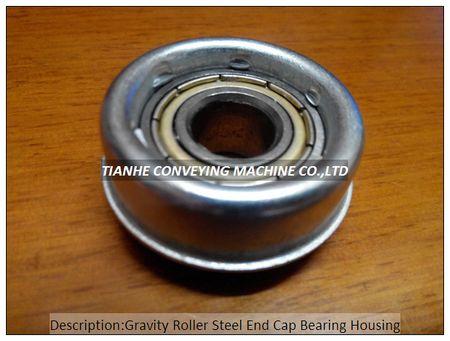 Gravity Roller Steel End Cap Bearing Housing, Gravity Roller Steel End Cover