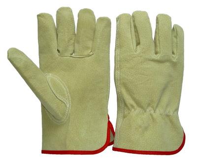 Sell pig split leather driver gloves