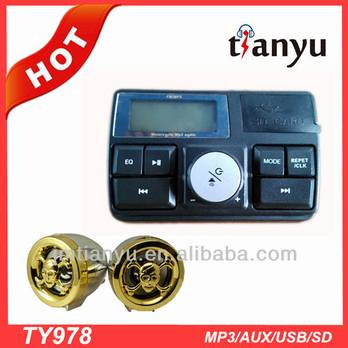 professional manufacturer wholesale motorcycle mp3 player with speakers