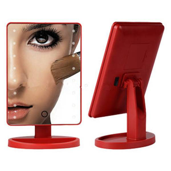 Square-shaped led lighted makeup mirrors