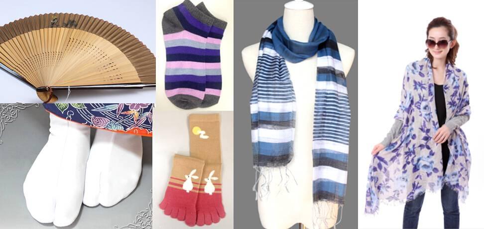 jersey scarf/ woven scarf/ silk scarf/ socks/fan