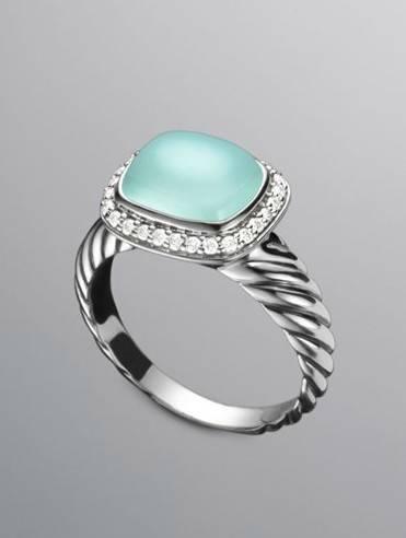 10x8mm Noblesse Ring Aqua Chalcedony